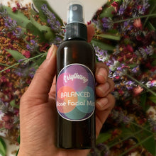Load image into Gallery viewer, Looking for Clearer more Even Skin?  Our Rose and Lavander Facial toner is anti-bacterial and works to balance skin.  Balance Skins PH Evens Skintone  Brightens skin  Anti-bacterial Fights acne and Scarring  Anti Aging  Firms and Refreshes skin  2 Month supply Ingredients  -   Fresh Rose, Lavender, Distilled Springwater, Tea  Tree Oil.