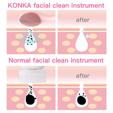 Load image into Gallery viewer, KONKA Electric Heated Sonic Facial Brush IPX6 waterproof