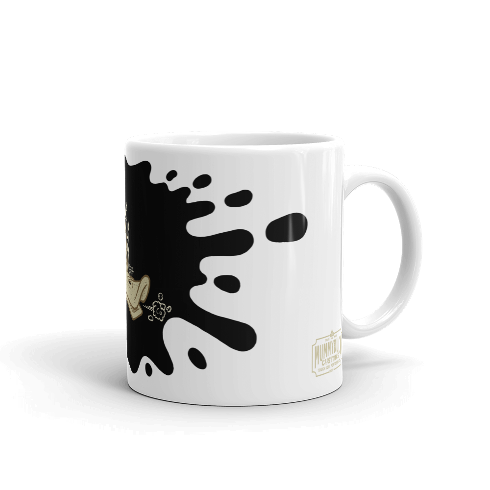 The Flaming Duck Skull Mug
