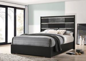 Blacktoft Collection - Blacktoft Queen Panel Bed Black