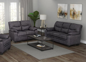 Meagan Collection - Meagan 2-piece Pillow Top Arms Living Room Set Brown