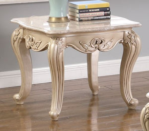 Monique End Table - Pearl