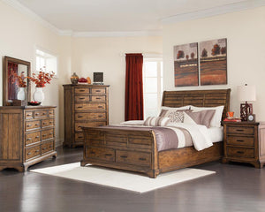 Elk Grove Collection - Elk Grove Eastern King Storage Bed Vintage Bourbon