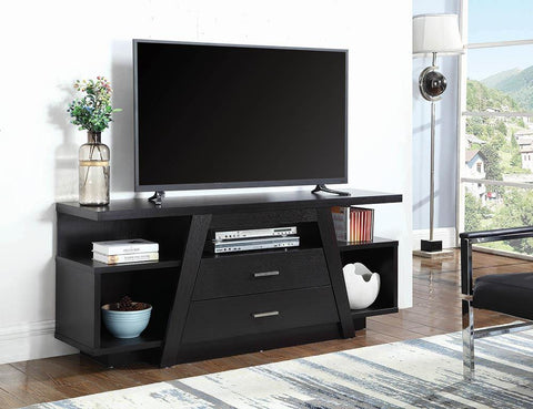 2-drawer Rectangular Tv Console Cappuccino