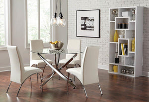 Ophelia Collection - White - Ophelia Contemporary White Dining Chair (Set of 2)
