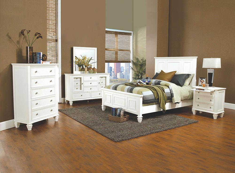 Sandy Beach Collection - Sandy Beach Eastern King Panel Bed With High Headboard White