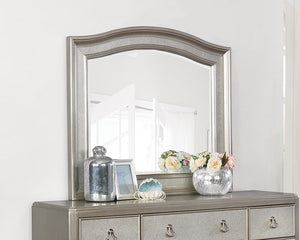 Bling Game Collection - Bling Game Arched Mirror Metallic Platinum