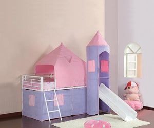 Princess Castle Tent Bed - Pink / Periwinkle - Princess Castle Twin Tent Loft Bed Pink And Perwinkle