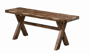 Alston Collection - Alston X-shaped Dining Bench Knotty Nutmeg