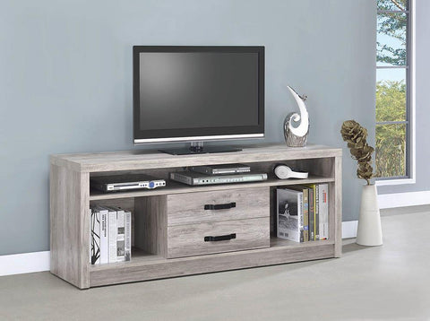 2-drawer Tv Console Grey Driftwood