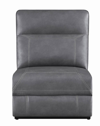 Albany Motion Collection - Grey - Armless Power2 Recliner