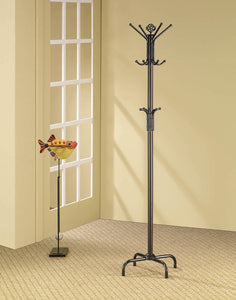 12-hook Coat Rack Black