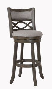 "Manchester 29"" Bar Stool - Ant Gray W/fabric Seat"