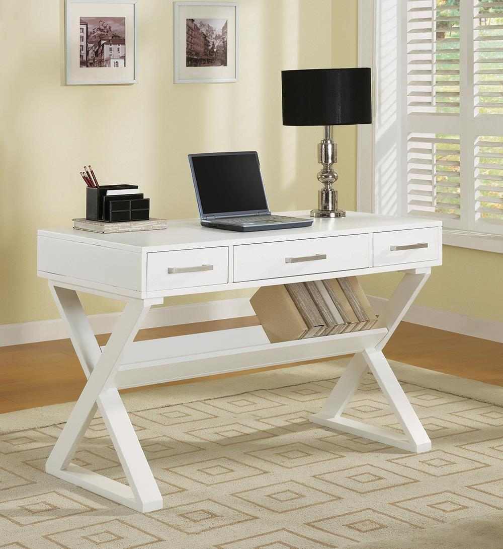 Krista Collection - Krista 3-drawer Writing Desk White