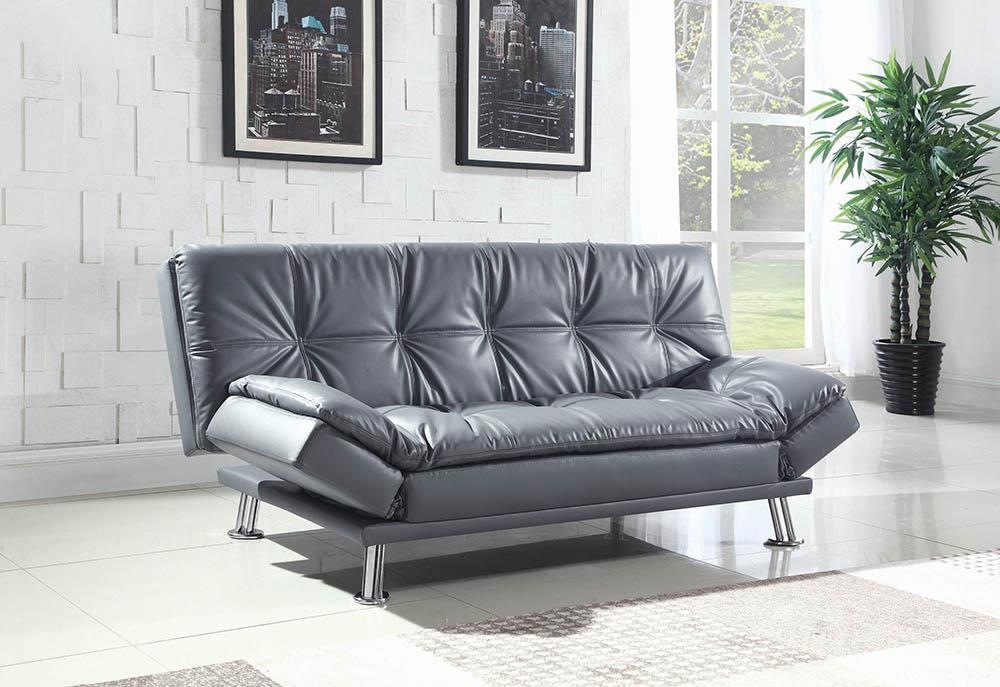 Dilleston Collection - Dilleston Tufted Back Upholstered Sofa Bed Grey