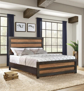 Dewcrest Collection - Dewcrest Queen Panel Bed Caramel And Licorice