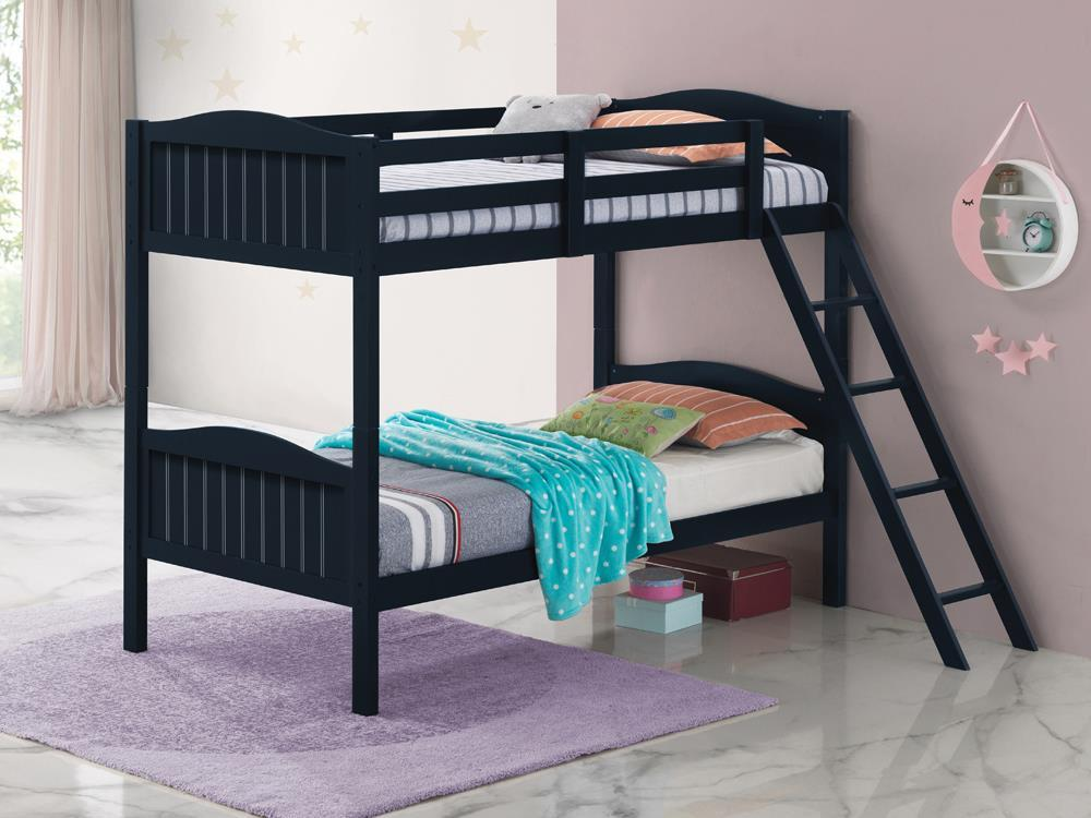 Littleton Bunk Bed - Littleton Twin/twin Bunk Bed With Ladder Blue