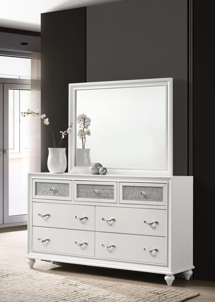 Barzini Collection - Barzini Rectangle Dresser Mirror White