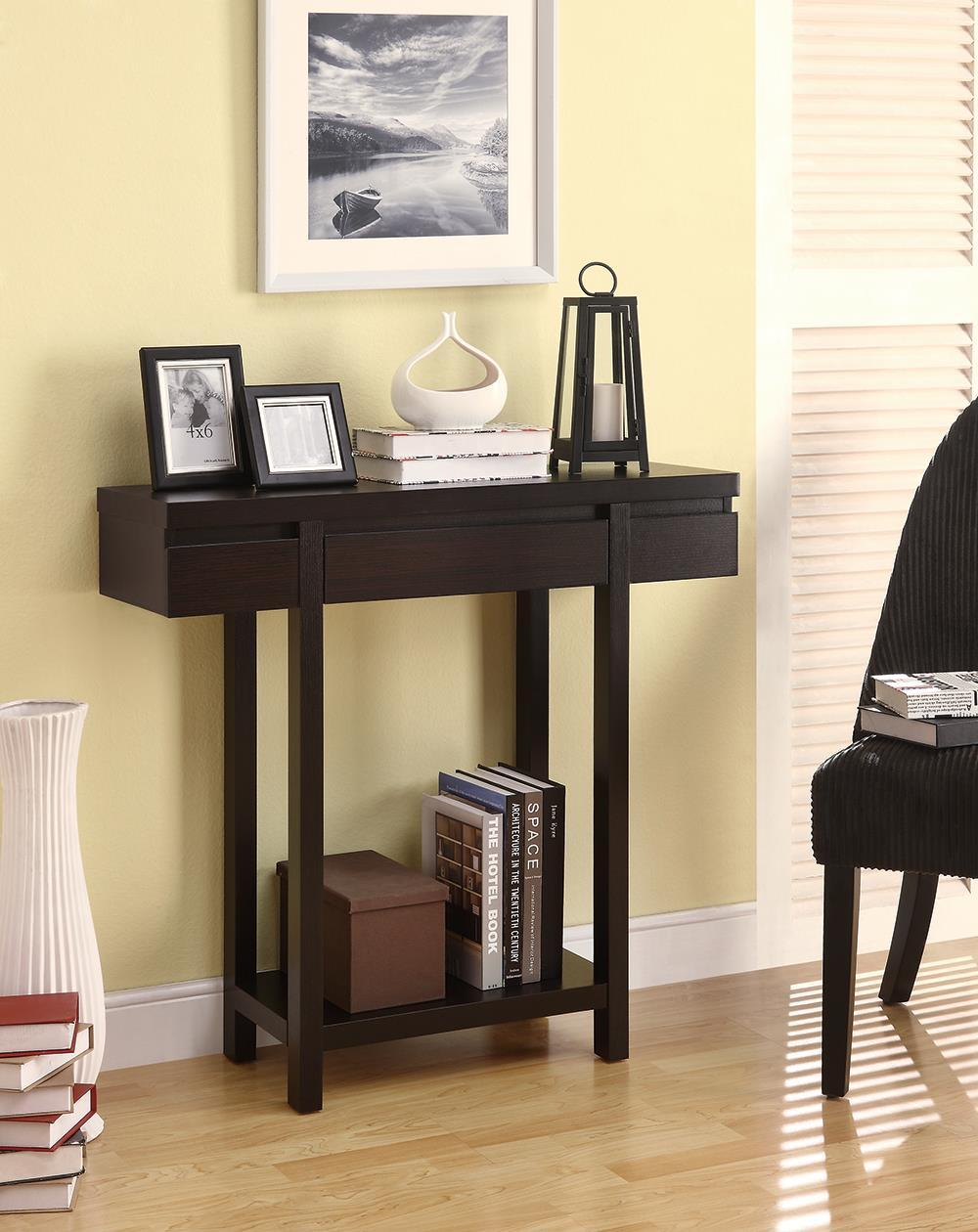 1-drawer Rectangular Console Table Cappuccino