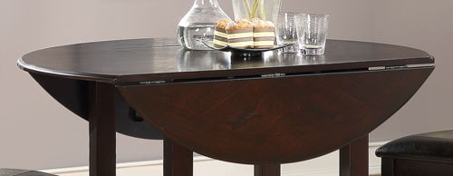 "Gia 42"" Dining Drop Leaf Table W/2 Chairs - Cherry"