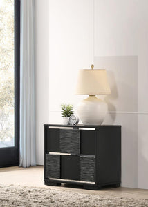 Blacktoft Collection - Blacktoft 2-drawer Nightstand Black