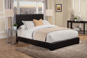 Conner Collection - Black - Conner Queen Upholstered Panel Bed Black