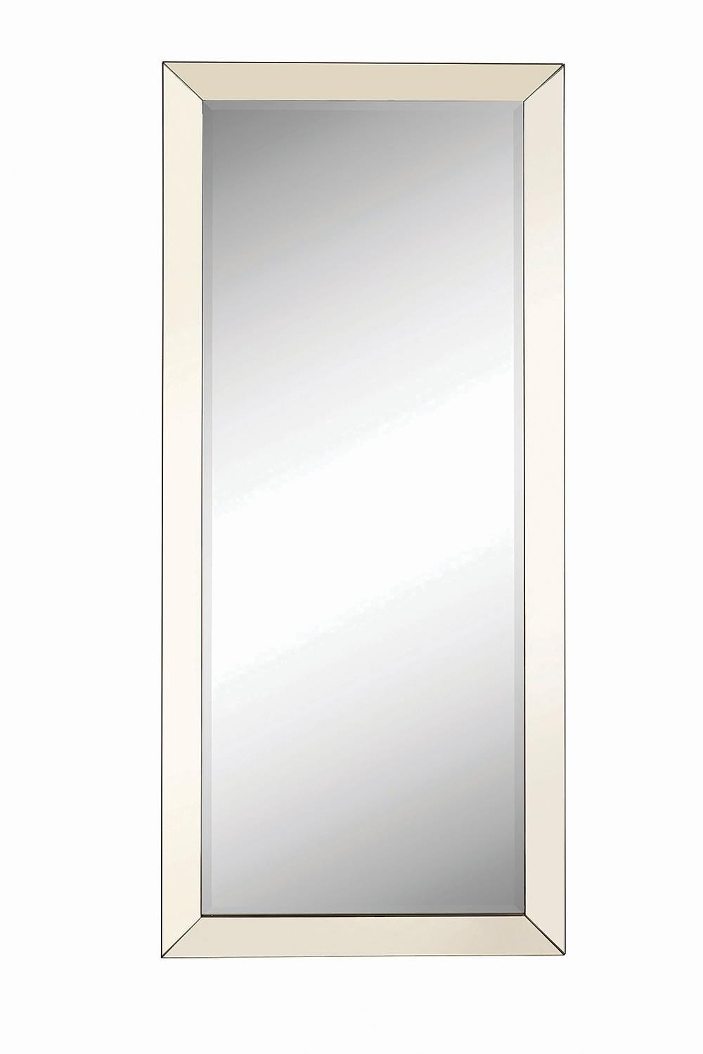 Rectangular Floor Mirror Silver
