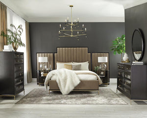 Formosa Collection - Formosa 5-piece Eastern King Platform Bedroom Set With Oval Nightstand Camel