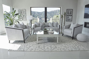 Dove Grey - Whitfield Sloped Arm Loveseat Dove Grey