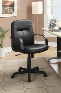 Home Office : Chairs - Black - Adjustable Height Office Chair Black