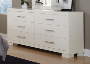 Jessica Collection - Jessica 6-drawer Dresser White