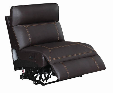 Albany Motion Collection - Brown - Armless Power2 Recliner