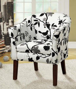 Accents : Chairs - Black+white - Upholstered Accent Chair Black And White