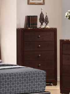 Conner Collection - Conner 5-drawer Rectangular Chest Cappuccino
