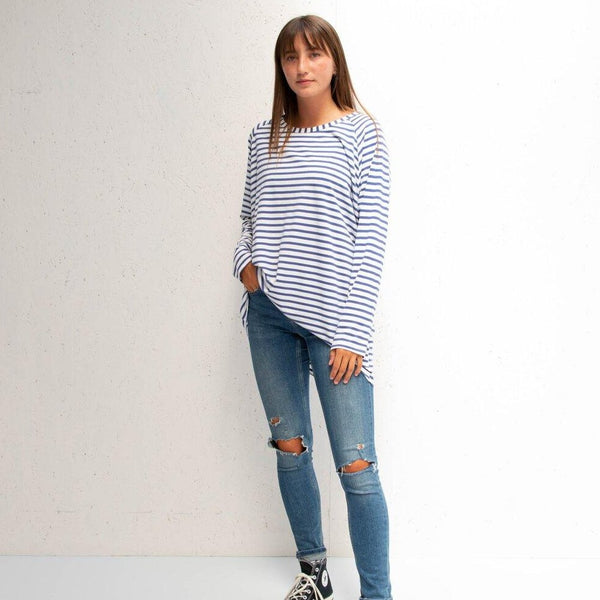 CHALK ROBYN TOP | STRIPED