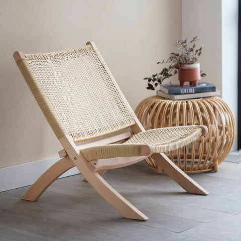 BATSON | WOVEN EASY CHAIR