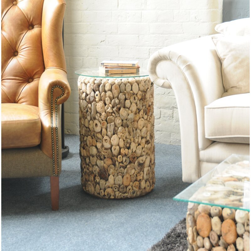 SALCOMBE | DRIFTWOOD SIDE TABLE | TALL
