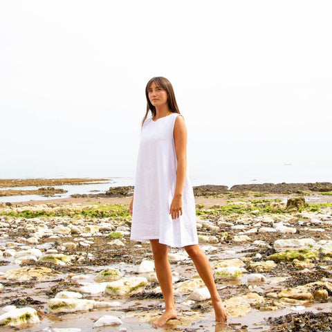 CHALK | JANE DRESS | WHITE