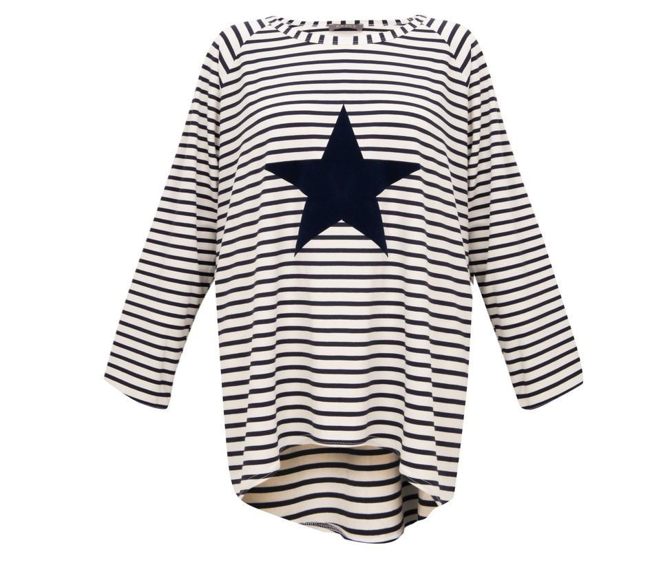 CHALK ROBYN TOP | STRIPED | NAVY STAR