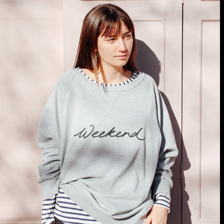 CHALK RUBY SWEATSHIRT | GREY MARL | WEEKEND