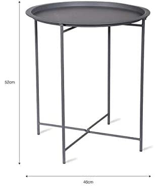 WALCOT | TRAY SIDE TABLE | CHARCOAL