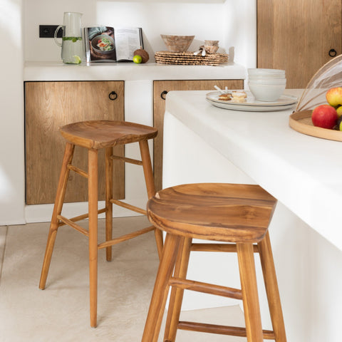 JUTLAND | TEAK BAR STOOL
