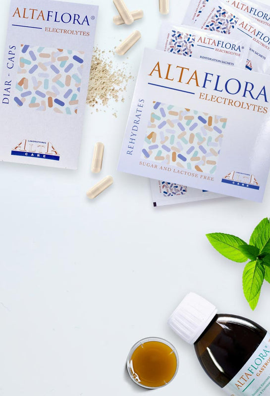 ALTA CARE Laboratoires has developed and produced ALTAFLORA® line unique formulations with beneficial action on gastrointestinal system, digestive problem and action against free radicals. The ingredients are highly bioavailable thanks to the implemented