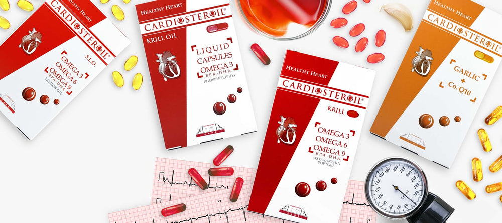 ALTA CARE Laboratoires has developed and produced CARDIOSTEROIL® line unique formulations with beneficial action on cardiovascular system, cholesterol levels and action against free radicals. The ingredients are highly bioavailable thanks to the implement