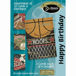 Divinity Boutique Boxed Cards: Birthday- Sports