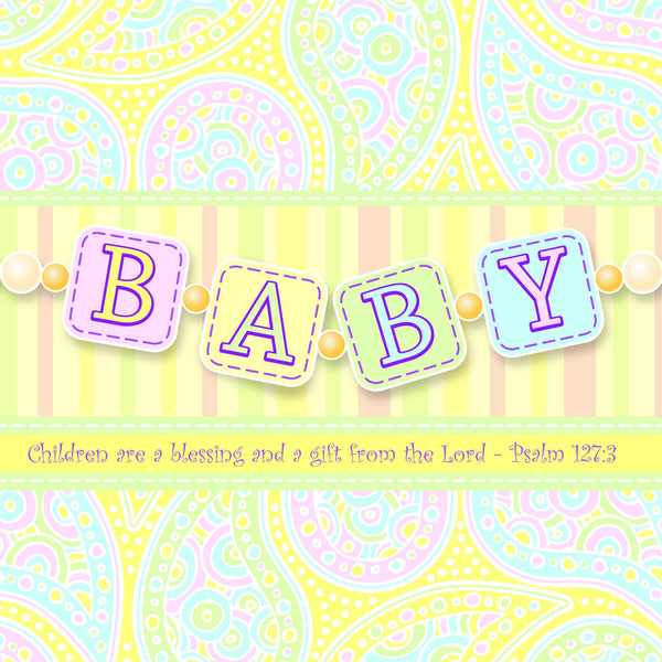 Divinity Boutique Napkin: Baby-Gift From The Lord (6 Pack)