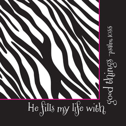 Divinity Boutique Napkin: Good Things-Zebra (6 Pack)