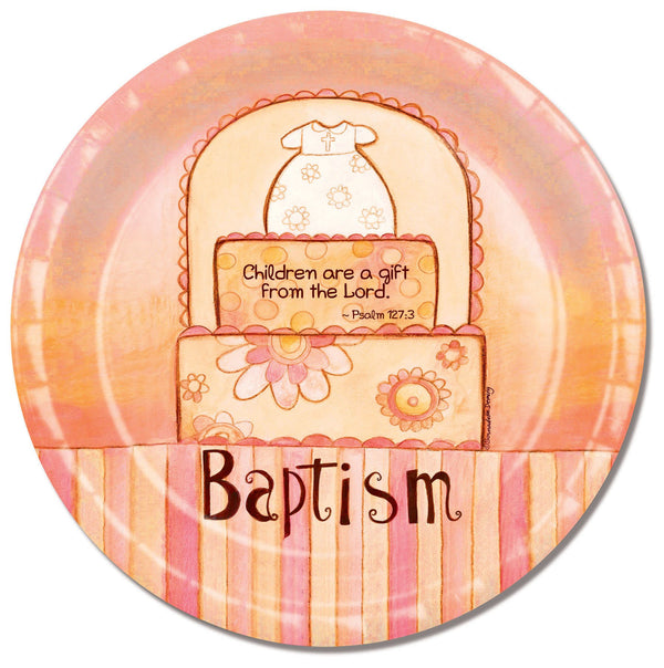 Divinity Boutique Baptism Cake with Scripture Paper Plate