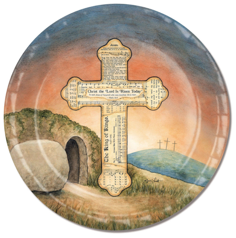 Divinity Boutique Easter Risen with Scripture Paper Plate