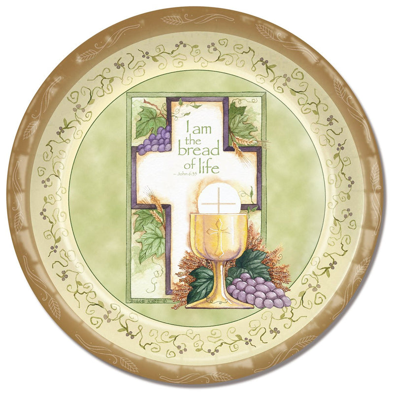 Divinity Boutique Communion Cross And Chalice Paper Plate